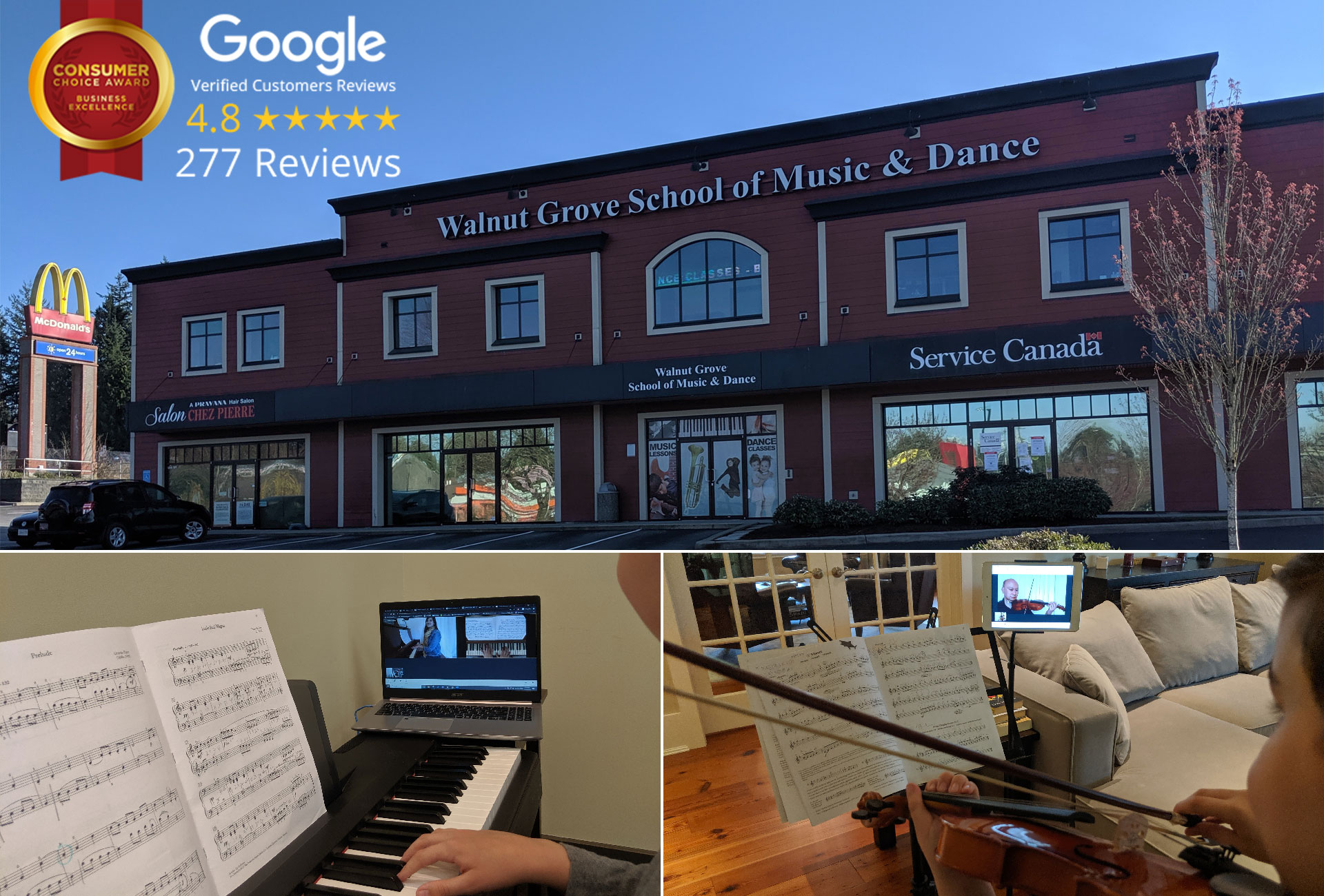 Canada's largest onsite and online music and dance school